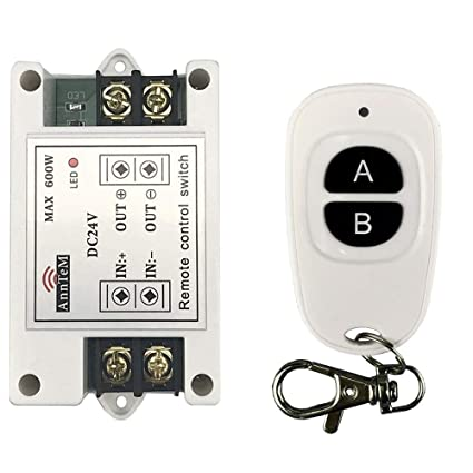 anntem wireless remote control switch 433mhz rf transmitter and rh amazon com RF Switches and Relays Blind Mate RF Connector