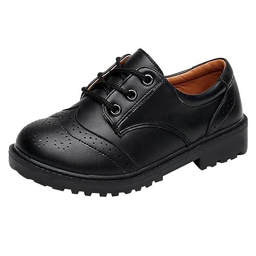 e4287e42 hibote Zapatos Oxford para Niño - Zapatos de Vestir Formales de Fiesta de  la Escuela Negra para Niños Unisex - 18062606: Amazon.es: Zapatos y  complementos