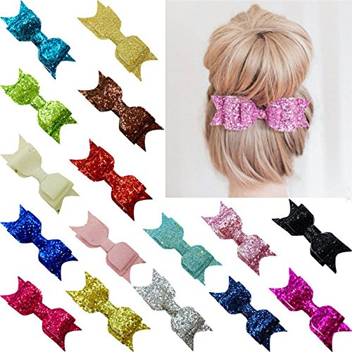 Classy Bezel - 1pc Cute Sequins Butterfly Hair Clip Colorful Bow Baby Girl Hairpins Gift new hy