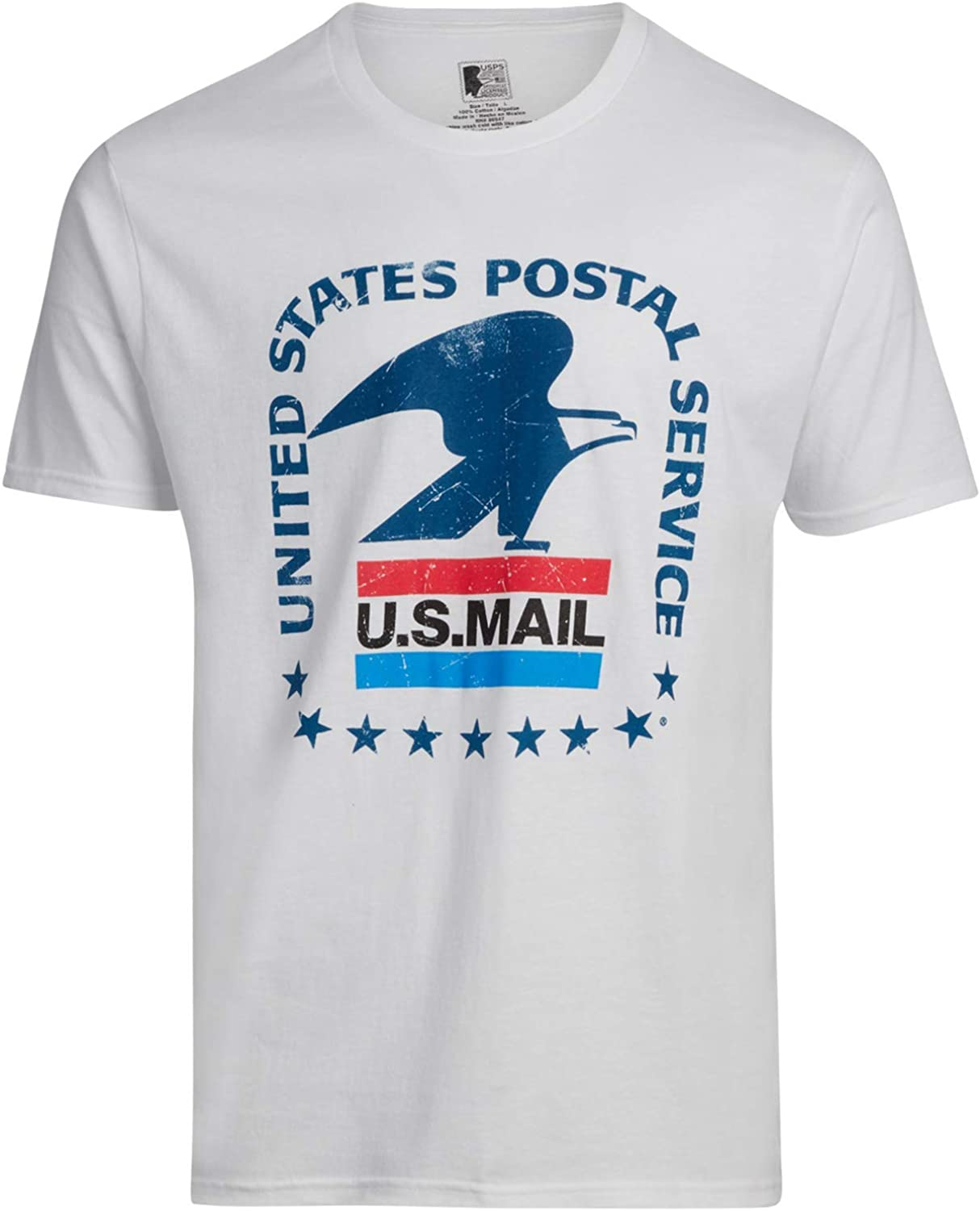 United States Postal Service Men's Short Sleeve Crew Neck Cotton Graphic T-Shirt
