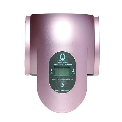 rickyaaron sd-480b 16,2 oz espuma Sensor de líquido bomba dispensador de jabón, oro rosa: Amazon.es: Hogar