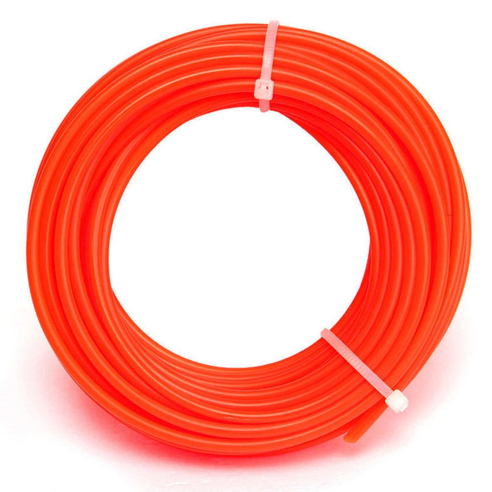 LVOERTUIG Strimmer Line Spool Nylon Cord Wire String Grass Trimmer Part Nylon Trimmer Rope Line Grass Cut Strimmer Spool Cord Wire String Grass Trimmer Parts Garden Tools(Orange red)