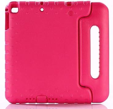 HNKHKJ Estuche para iPad Air/Air 2 9 7 Pulgadas portátil de Mano a Prueba de Golpes EVA Cubierta de Cuerpo Completo Estuche de Soporte para niños para iPad 2017 2018 Estuche-Rose_Red: Amazon.es: Electrónica