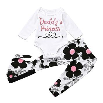 09566c4a80434 Daddy s Princess 3点セット(ロンパース+パンツ+帽子) ベビー服 女の子 赤ちゃん服