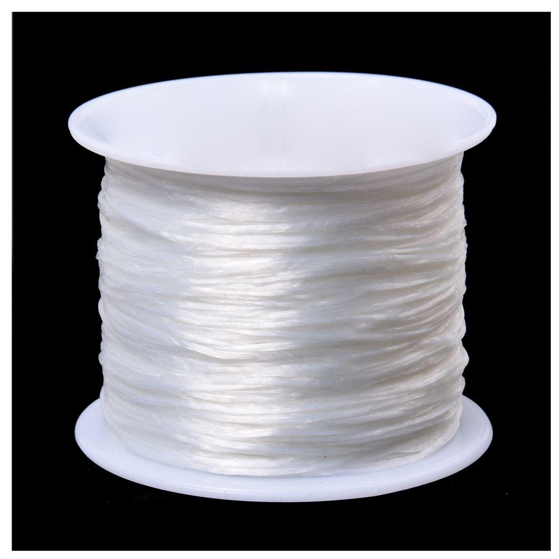 Andifany Blanc Elastique Extensible Cristal Ligne Bijoux Perles Bobine de Fil 100 Metres