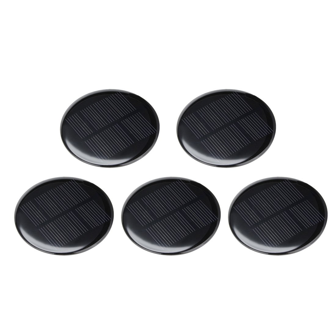 uxcell 5Pcs 4V 80mA Poly Mini Round Solar Cell Panel Module DIY for Phone Light Toys Charger 73mm Diameter by uxcell