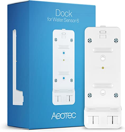 Aeotec Water Sensor 6 for Home Security Z-Wave Plus Water Leak Detector Smart Flood Sensor Freeze Sensor Temperature Detector Dock for Water Sensor