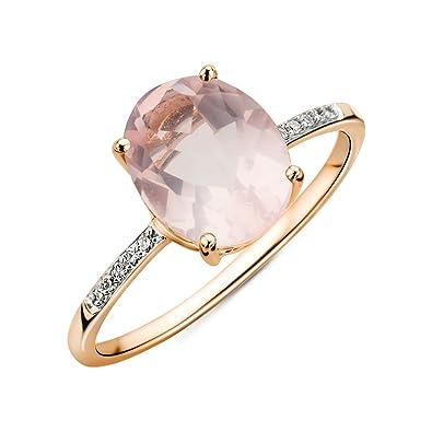 Miore - Bague - 9 ct Oval Quartz - Bague de diamant,  Amazon.fr  Bijoux 18615305072f