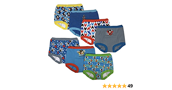 Disney Boys Mickey Mouse Potty Training Pant Multipack Baby and Toddler Training Underwear