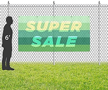 CGSignLab 8x4 Modern Gradient Wind-Resistant Outdoor Mesh Vinyl Banner Super Sale
