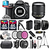 Holiday Saving Bundle for D7100 DSLR Camera + 18-105mm VR Lens + 2 Of 32GB Class 10 Memory Card + 1yr Extended Warranty + Case + 0.43X Wide Angle Lens + 2.2x Telephoto Lens - International Version