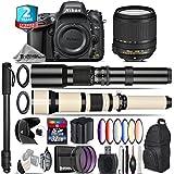 Holiday Saving Bundle for D610 DSLR Camera + 18-140mm VR Lens + 650-1300mm Telephoto Lens + 500mm Telephoto Lens + 6PC Graduated Color Filer Set + 2yr Extended Warranty - International Version
