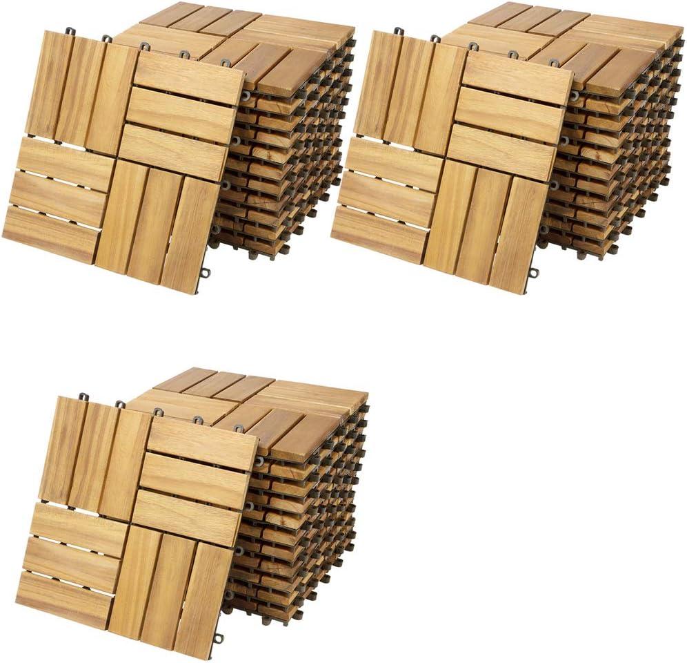 Deuba Casaria Wooden Tiles, FSC® certified, Acacia, Eucalyptus ...