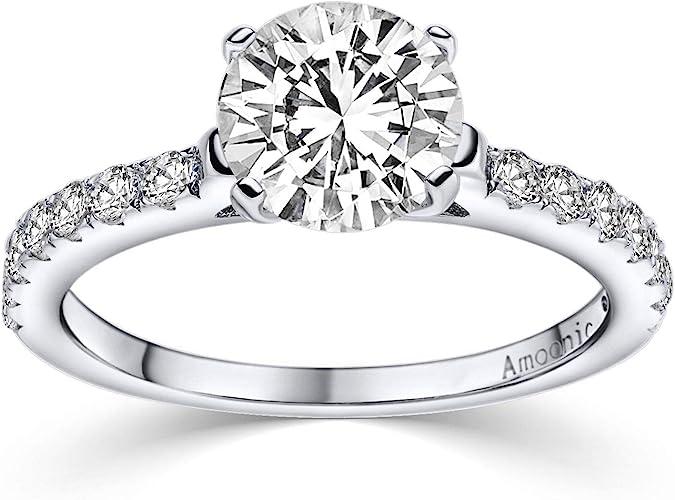 925 Silberring Damenring Verlobungsringe Antragsringe Trauring Ring mit Stein