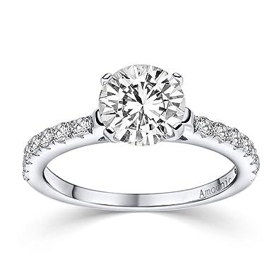 Compromiso anillos con circonita * + estuche! Anillo de ...