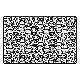 My Daily Cute Panda Cartoon Area Rug 20'' x 31'', Door Mat for Living Room Bedroom Kitchen Bathroom Decorative Lightweight Foam Printed Rug