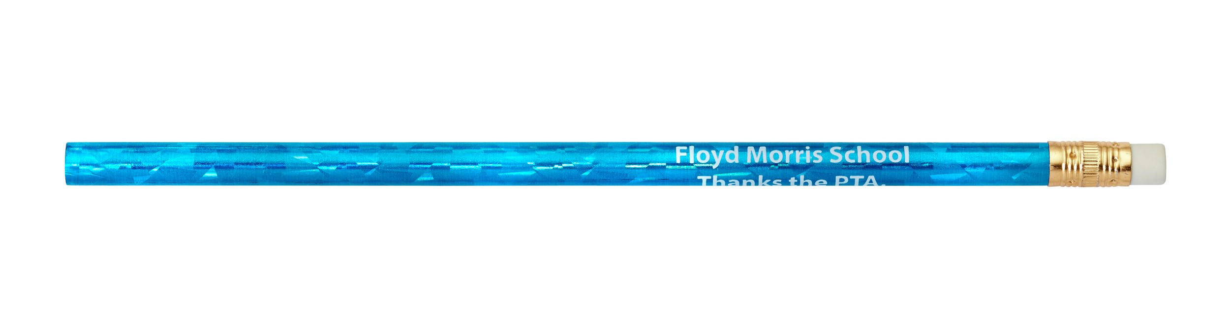 Pencil Guy Promotional Personalized Imprinted Glitz Round Pencils Glitz Blue 144 to a Box