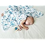 100-Organic-Muslin-Swaddle-Blanket-by-ADDISON-BELLE-Oversized-47-inches-x-47-inches-Best-Baby-Shower-Gift-Premium-Receiving-Blanket-Sharks-Print