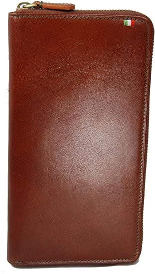 Castello Italian Leather Zip Around Passport Travel Wallet