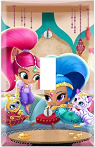 Single Toggle Wall Switch Cover Plate Décor Wallplate - Shimmer and Shine Tala Nahal