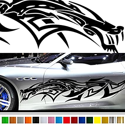 Dragon car sticker car vinyl side graphics 135 car vinylgraphic custom stickers decals
