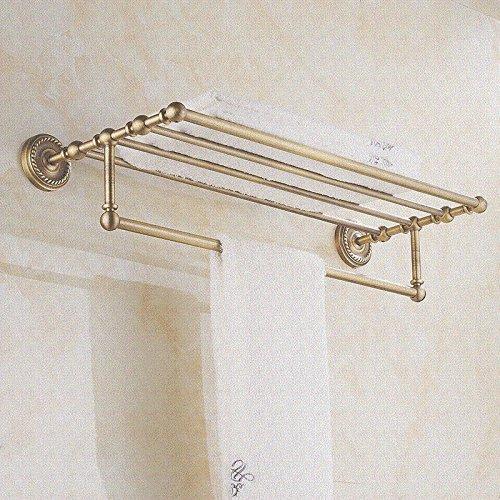 Yomiokla Bathroom Accessories - Bathroom Metal Towel Ring creative power suction Non-marking wall mount towel rod double rod handkerchiefs rack plastic double suction wall mounted 48cm