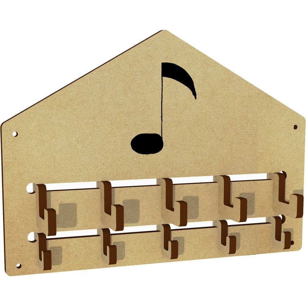 Azeeda 'Music Note' Wall Mounted Coat Hooks / Rack (WH00004576)