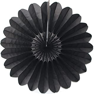 product image for 3-Pack 27 Inch Extra-Large Honeycomb Tissue Paper Party Fanburst Decoration (Black)