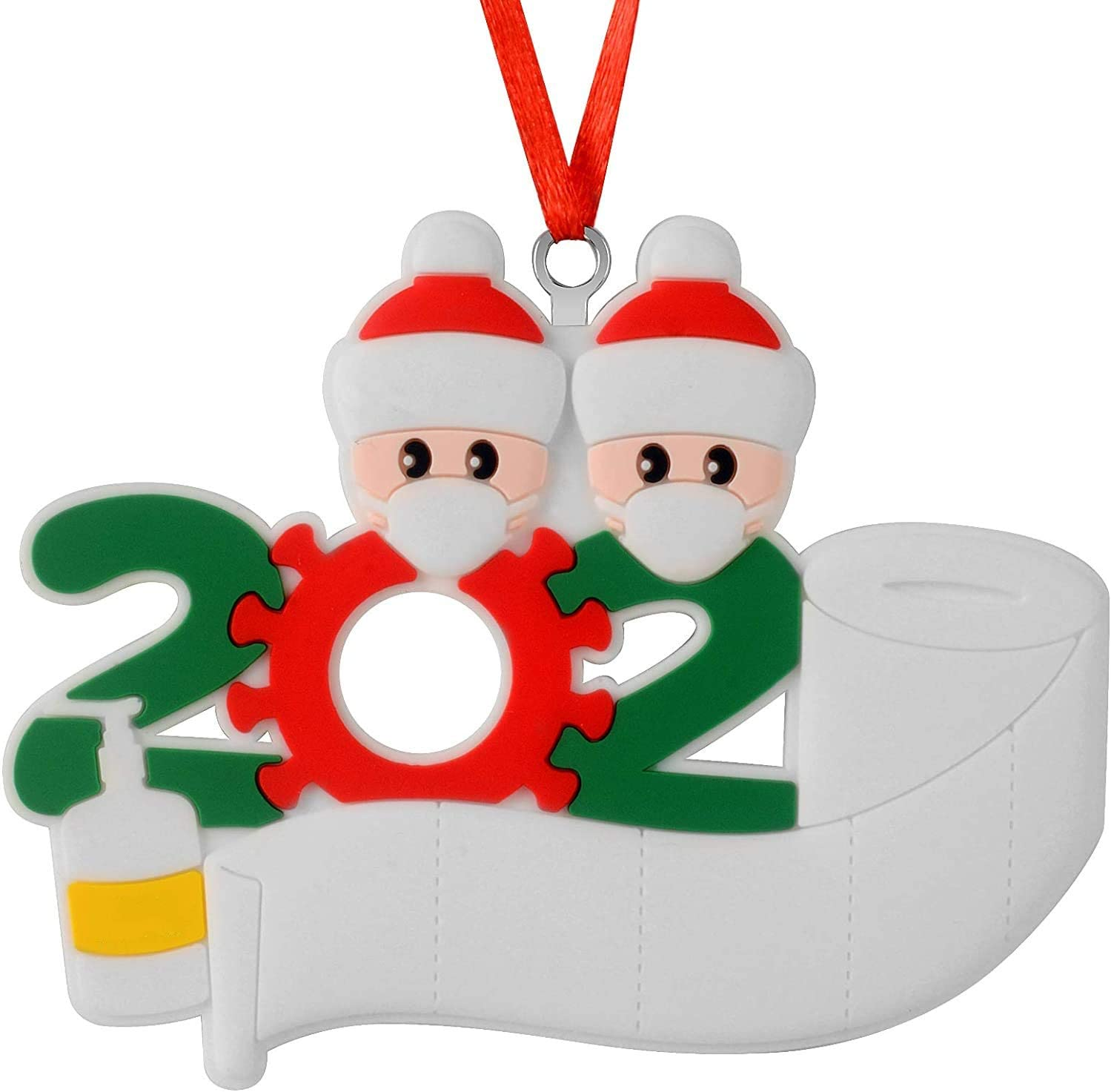 COSY 2020 Personalized Christmas Ornaments With Masks