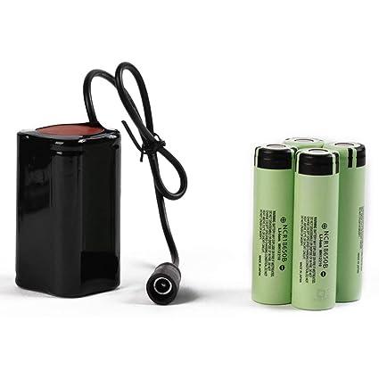 UnitedheartES 8.4V USB Recargable 4x18650 batería para Bicicleta ...