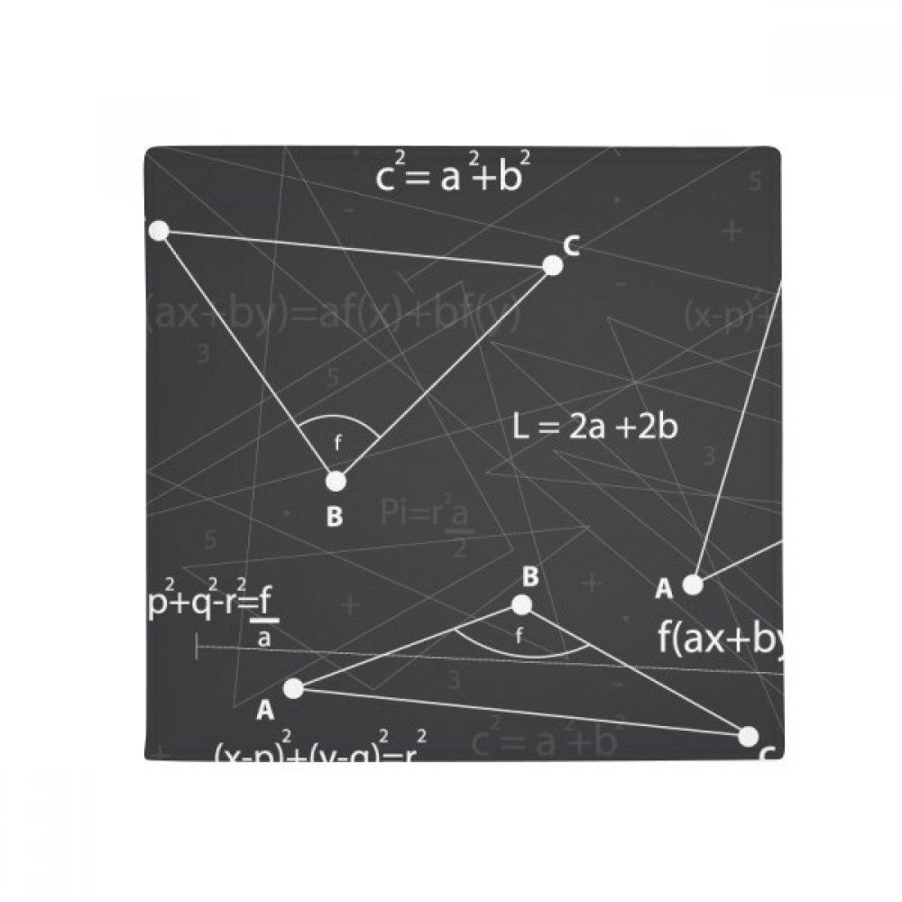 DIYthinker Grey Angle Mathematical Formula Calculus Anti-Slip Floor Pet Mat Square Home Kitchen Door 80Cm Gift