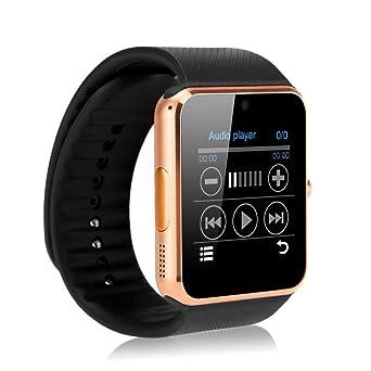 Zomtop portatil Bluetooth reloj inteligente gt08 Smart Health reloj teléfono con ranura para tarjeta SIM para