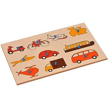 Kidken Montessori Inset Boards: Vehicles