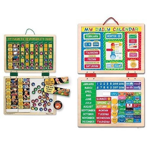 Melissa & Doug Responsibility Chart & Daily Calendar - Doug Chart Responsibility Magnetic