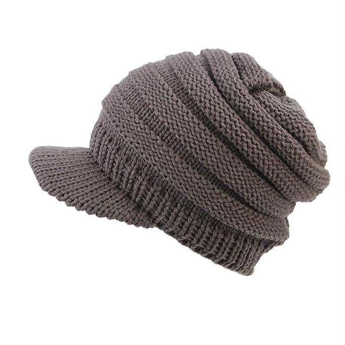 Ujunaor Frauen Herren Barett Ski Hut Mütze Weiche Stretch Cable Knit