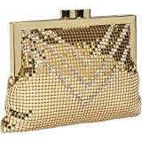 Whiting and Davis Crystal Chevron Cross-Body,Gold,one size, Bags Central