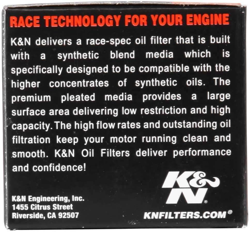 K/&N KN-563 Powersports High Performance Oil Filter