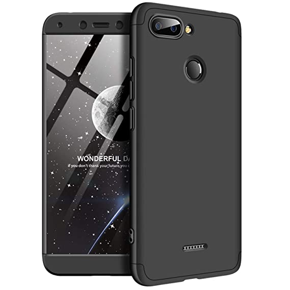 size 40 0f6d2 3211b MYLB Xiaomi Redmi 6 Case,360 Degree Full Body Coverage Protection [3 in 1]  Anti-Scratch Detachable PC Hard Cover Protective Case for Xiaomi Redmi 6 ...