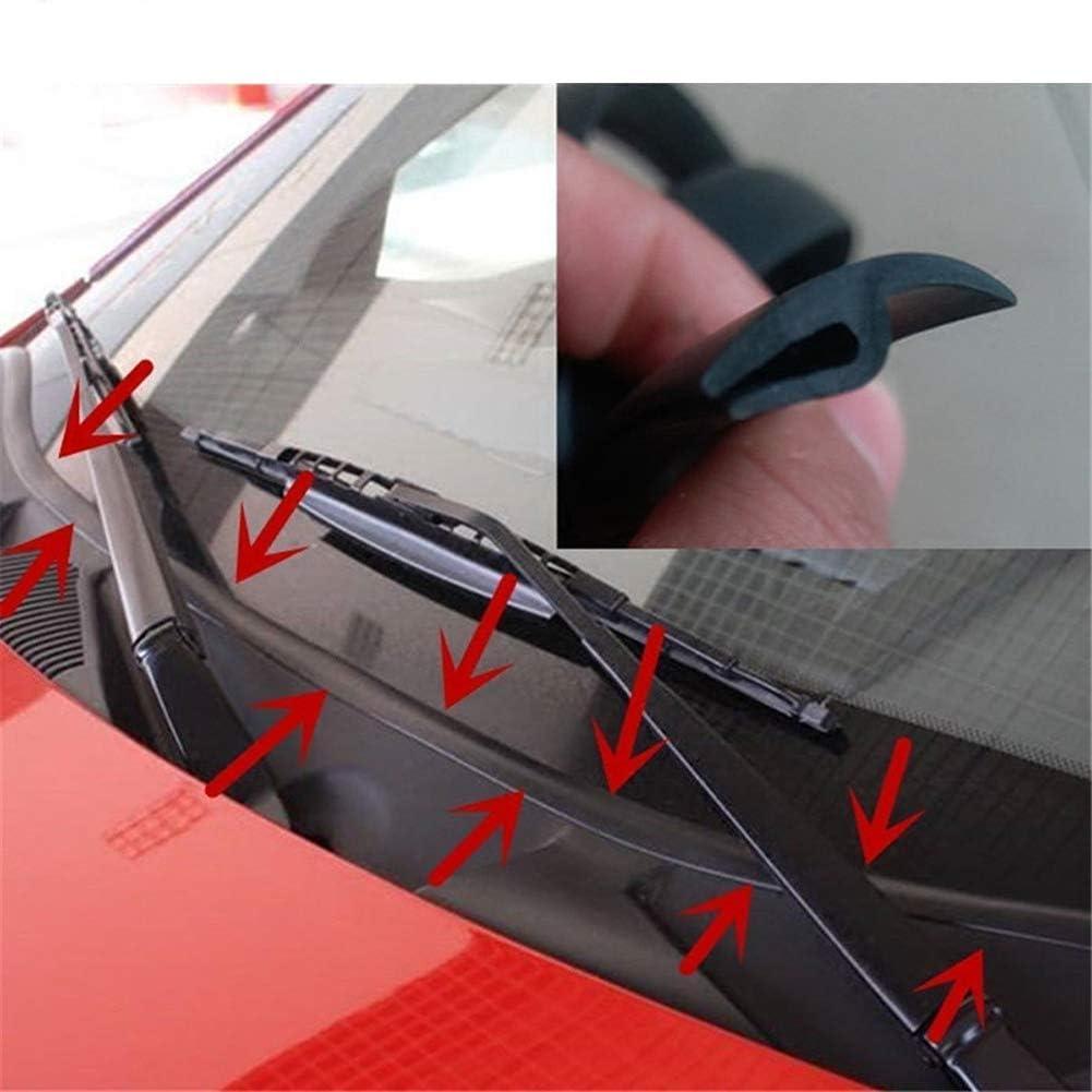 Akamas Auto Windschutzscheibendichtung Gummi Universal Für Die Windschutzscheibe Fenster Zierleiste Gummistreifen 1 65 M Schwarz Küche Haushalt