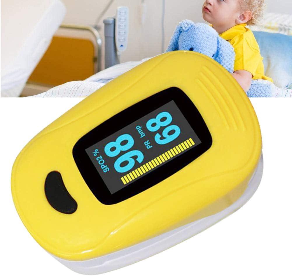 Oxímetro de Pulso de la Punta de los Dedos, Monitor de frecuencia cardíaca y saturación de oxígeno en la Sangre para niños y niños(Rojo)