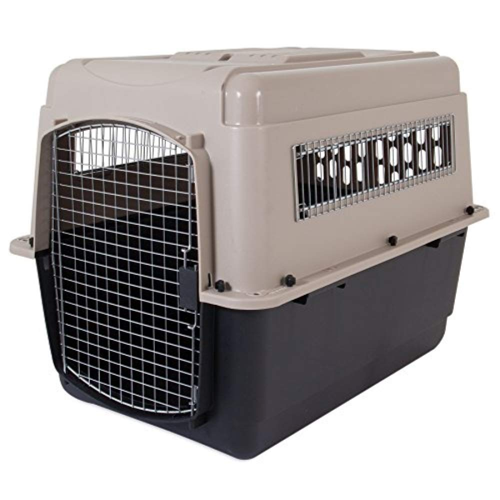 Petmate Ultra Vari Dog Kennel, Heavy-Duty, No Tool Assembly, 4 Sizes, Taupe/Black by Petmate