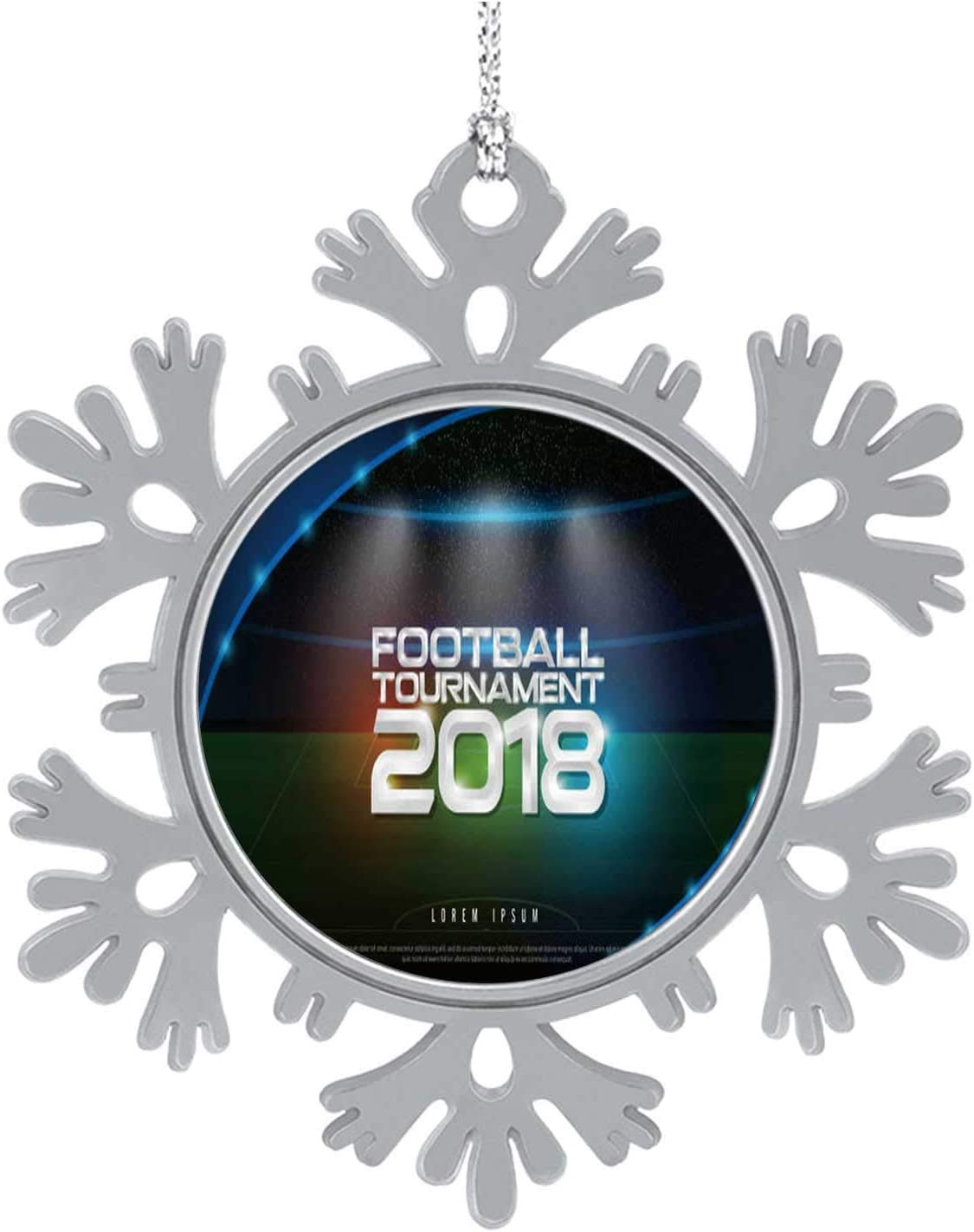 C COABALLA 2018 World - Ship Football Tournament Cup on Stadium -.Soccer icon,Hanging Ornament Decoration Kit,Hanging for Xmas Holiday Party Decor Broadcast Graphic Template - Russia 3PCS