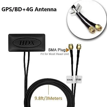 Antena GPS, Coche Auto activa Antena SMA conector de antena CableFor in-dash de