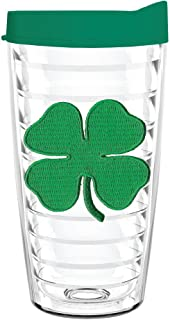 product image for Smile Drinkware USA-SHAMROCK 16oz Tritan Insulated Tumbler With Lid and Straw