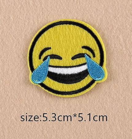New Cartoon Smiley Face Patch Computer Embroidery Badges Can Be Hand