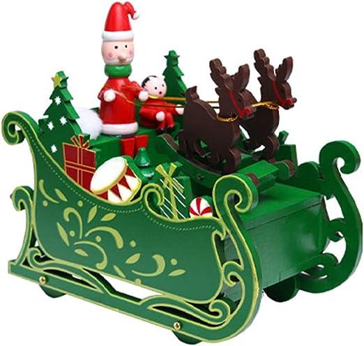 HQQ Trineo de la Navidad Caja de música Regalo víspera de Navidad ...