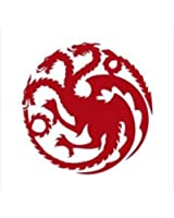 Game of Thrones-Mother of Dragons Decal Vinyl Sticker|Cars Trucks Walls Laptop | Red | 5.5 Inch | KCD419