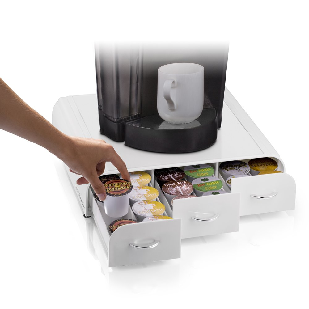 Mind Reader TRAY6-WHT - Cajón para cápsulas de café con capacidad de 36 unidades, color blanco: Amazon.es: Hogar