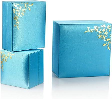 ROMQUEEN Pulsera Caja Flor Azul Caja de Regalo Azul Muy Adecuado ...