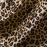 YAMU Animal Skin Cotton Print Fabric BTY tiger Leopard Quilting Indoor Outdoor Upholstery By Zhe Yard (Leopard Stripes A)